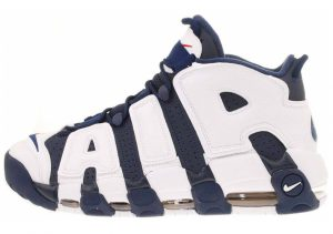 Nike Air More Uptempo Mid Navy, Mid Nvy-white-sprt Rd