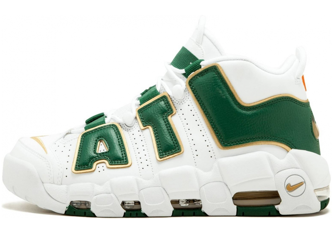 Nike Air More Uptempo White/Gorge Green