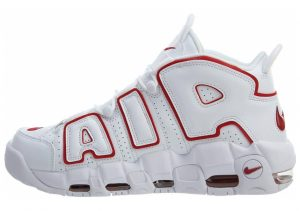 Nike Air More Uptempo white , varsityred-white