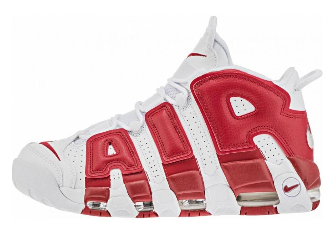 Nike Air More Uptempo White, White-gym Red