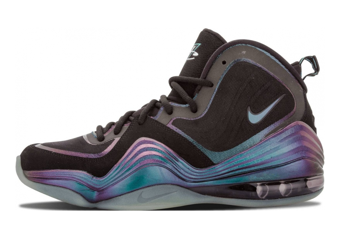 Nike Air Penny V Black, Atomic Teal-purple