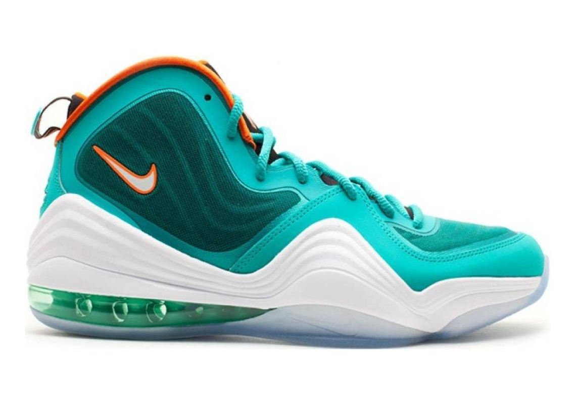 Nike Air Penny V New Green, White-safety Orange