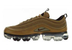 Nike Air VaporMax 97 Metallic Gold, Varsity Red