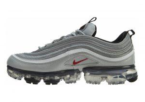 Nike Air VaporMax 97 Metallic Silver Varsity Red