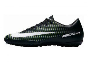 Nike MercurialX Victory VI Turf Nero (Black/Wht-elctrc Grn-prmnt Bl)