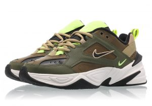 Nike M2K Tekno Medium Olive Black Yukon Brown