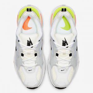 Nike M2K Tekno Pure Platinum Volt Orange