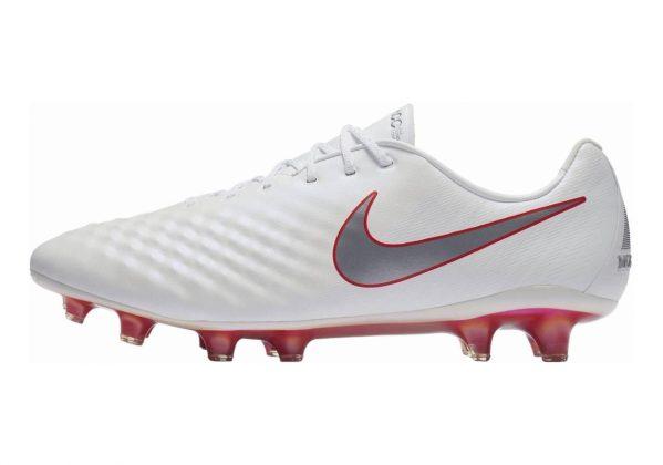 Nike Magista Obra II Elite Firm Ground White/Mtlc Cool Grey-lt Crimson