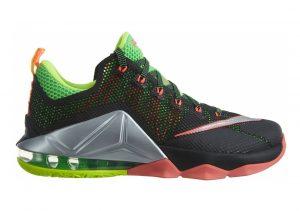 Nike LeBron XII Low Black/Volt/Silver