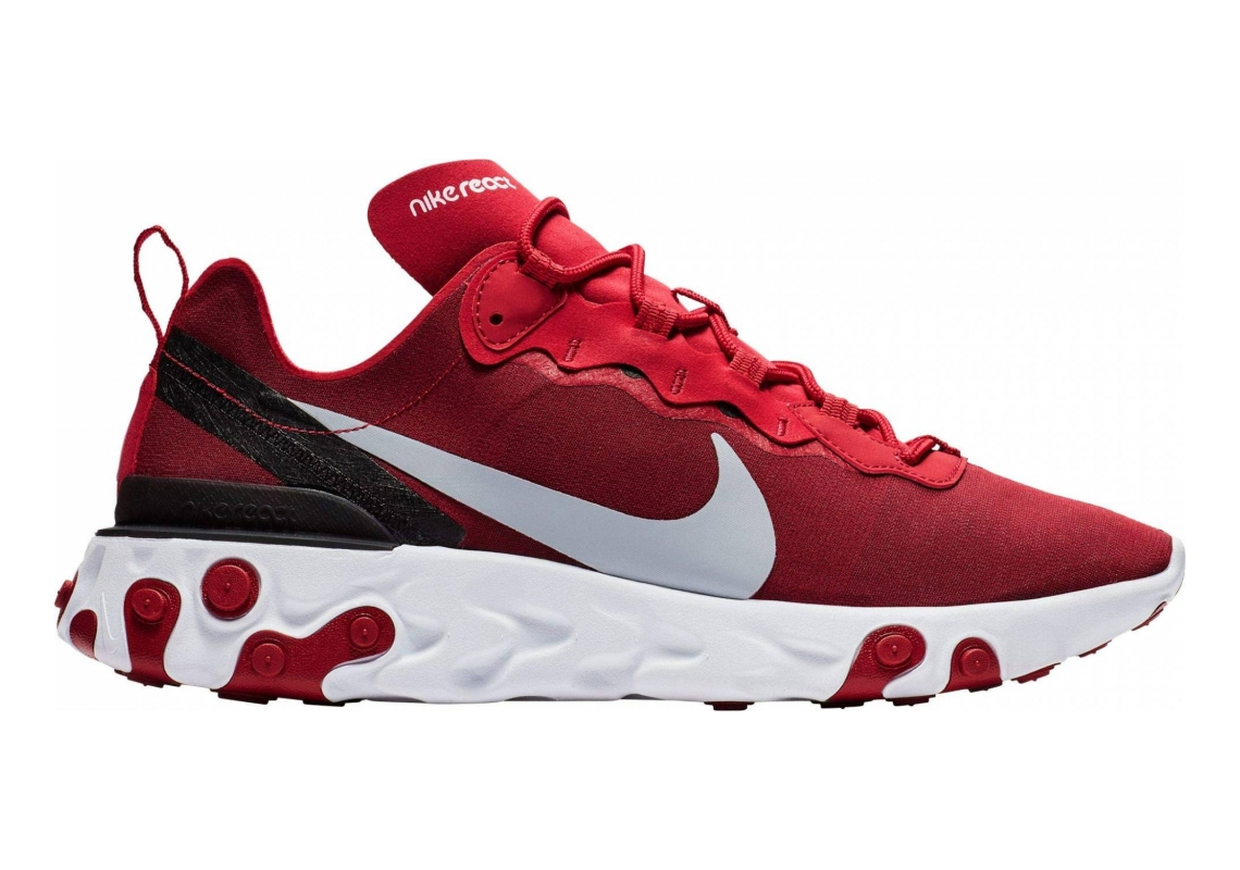 Nike React Element 55 Gym Red/ Wolf Grey-White-Black