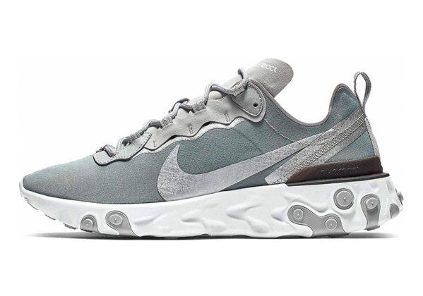 Nike React Element 55 Metallic Silver/White/Black