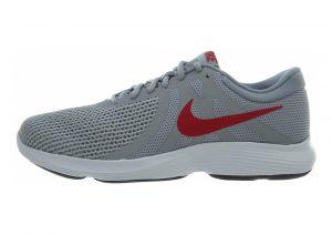 Nike Revolution 4 Wolf Grey/Gym Red - Stealth