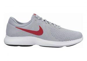 Nike Revolution 4 Wolf Grey/Gym Red/Stealth