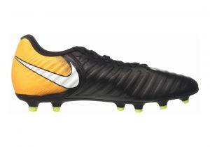 Nike Tiempo Rio IV Firm Ground Black (Black/White/Laser Orange/Volt)