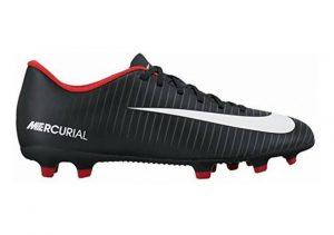 Nike Mercurial Vortex III Firm Ground Black White Dark Grey