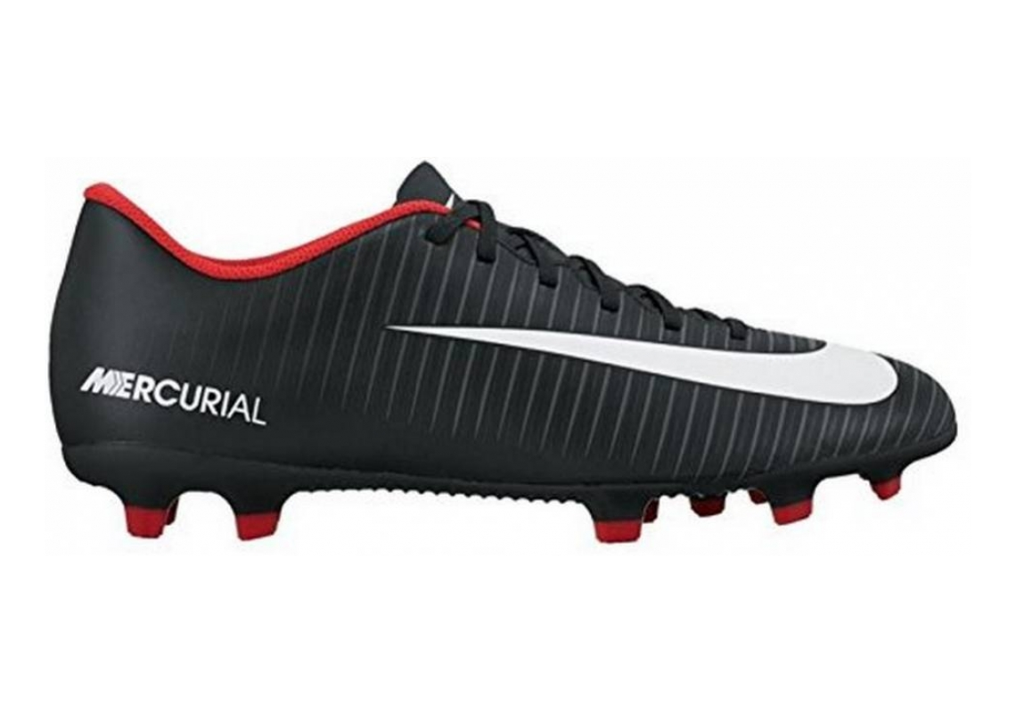 Nike Mercurial Vortex III Firm Ground Black White Dark Grey