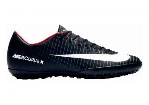 Nike MercurialX Victory VI Turf Nero (Black/White/Dk Grey/Univ Red)