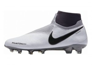 Nike Phantom Vision Elite DF Firm Ground Pure Platinum/Metallic Dark Grey/Wolf Grey