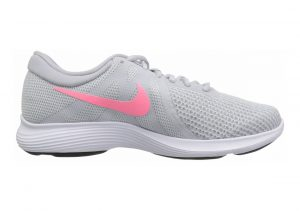 Nike Revolution 4 Pure Platinum/Sunset Pulse - Wolf Grey