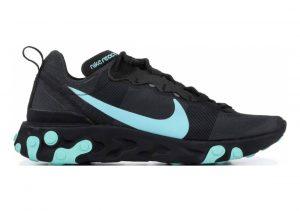 Nike React Element 55 Black, Aurora Green-cool Grey