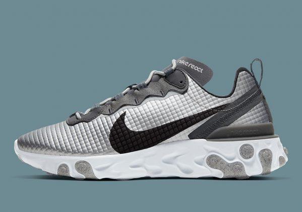 Nike React Element 55 Silver