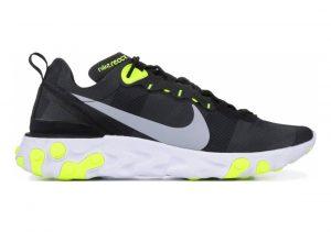 Nike React Element 55 Black, Wolf Grey-volt-white