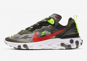 Nike React Element 87 Camo Style