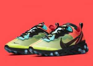 Nike React Element 87 Pairs Volt And Racer Pink