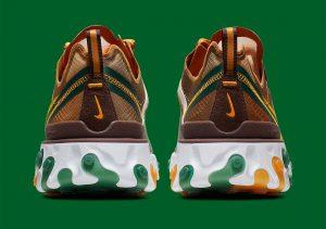 Nike React Element 87 Pale Ivory Orange Peel