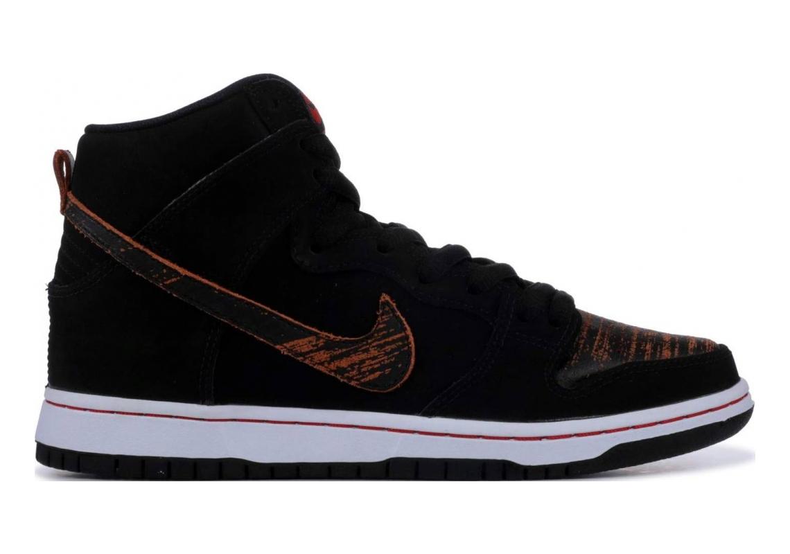 Nike SB Dunk High Pro BLACK/BLACK-UNIVERSITY RED