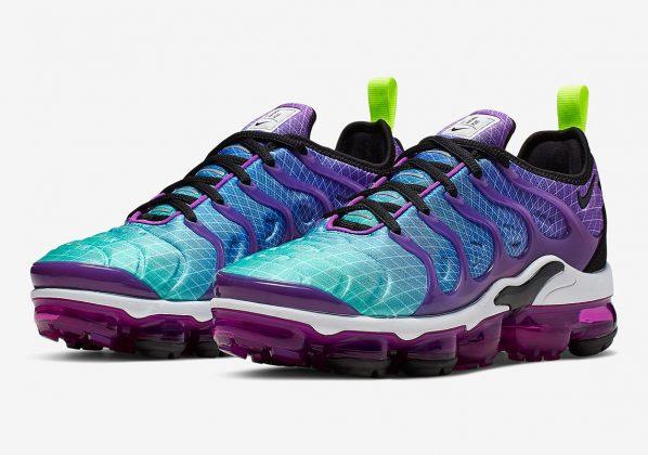 Nike Vapormax Plus Multi Color Black Hyper Violet Volt