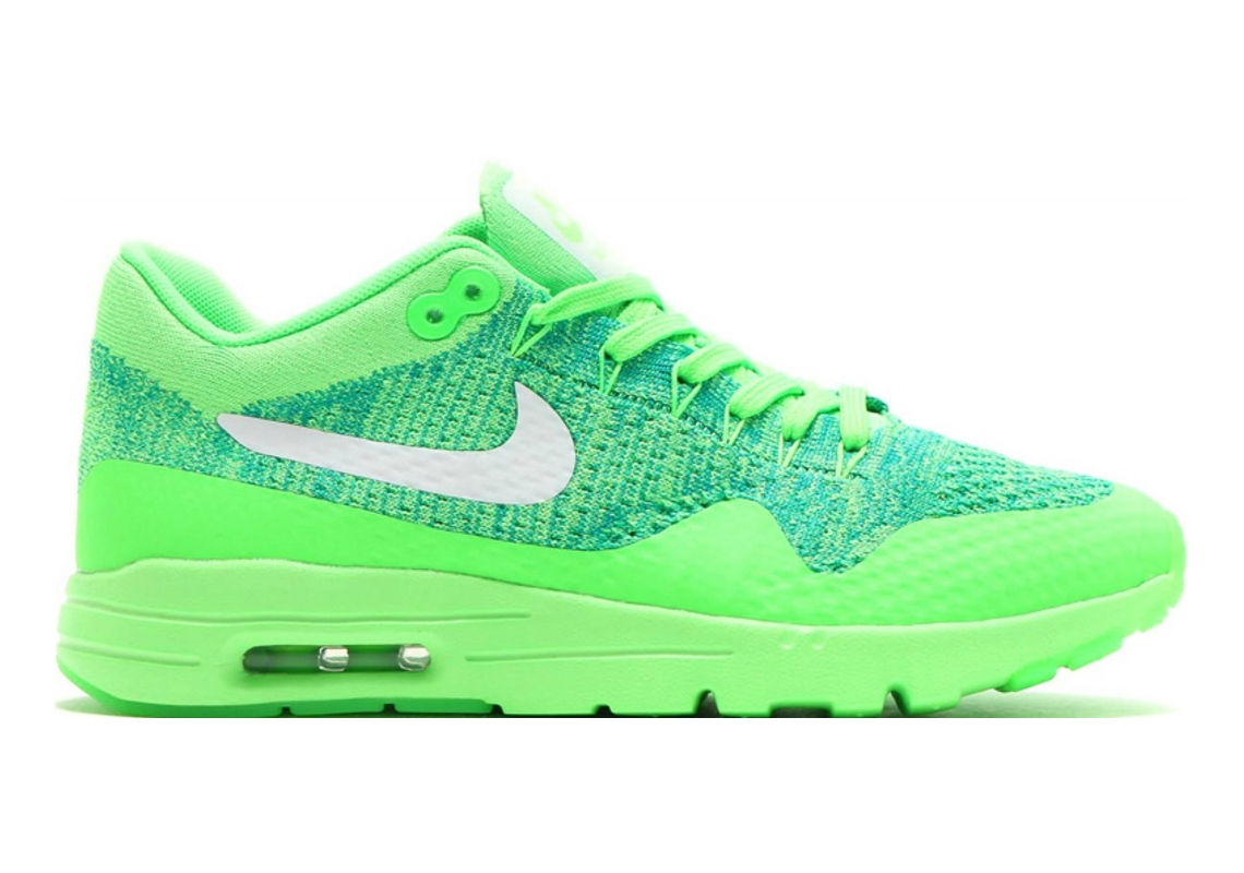 Nike Air Max 1 Ultra Flyknit Green (Voltage Green / White-lucid Green-rio Teal)