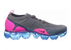 Nike Air VaporMax Flyknit 2 Gris (Gun Smoke/Black/Blue Orbit/Pink Blast 004)