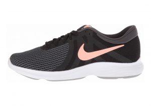 Nike Revolution 4 Black Crimson Anthracite Grey