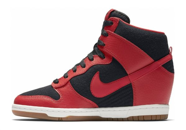 Nike Dunk Sky Hi Essential Black/University Red-sail-black