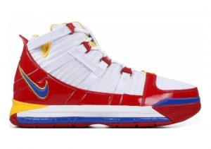 Nike Zoom LeBron 3 White, Varsity Red