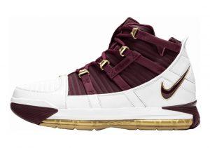 Nike Zoom LeBron 3 White, Deep Maroon