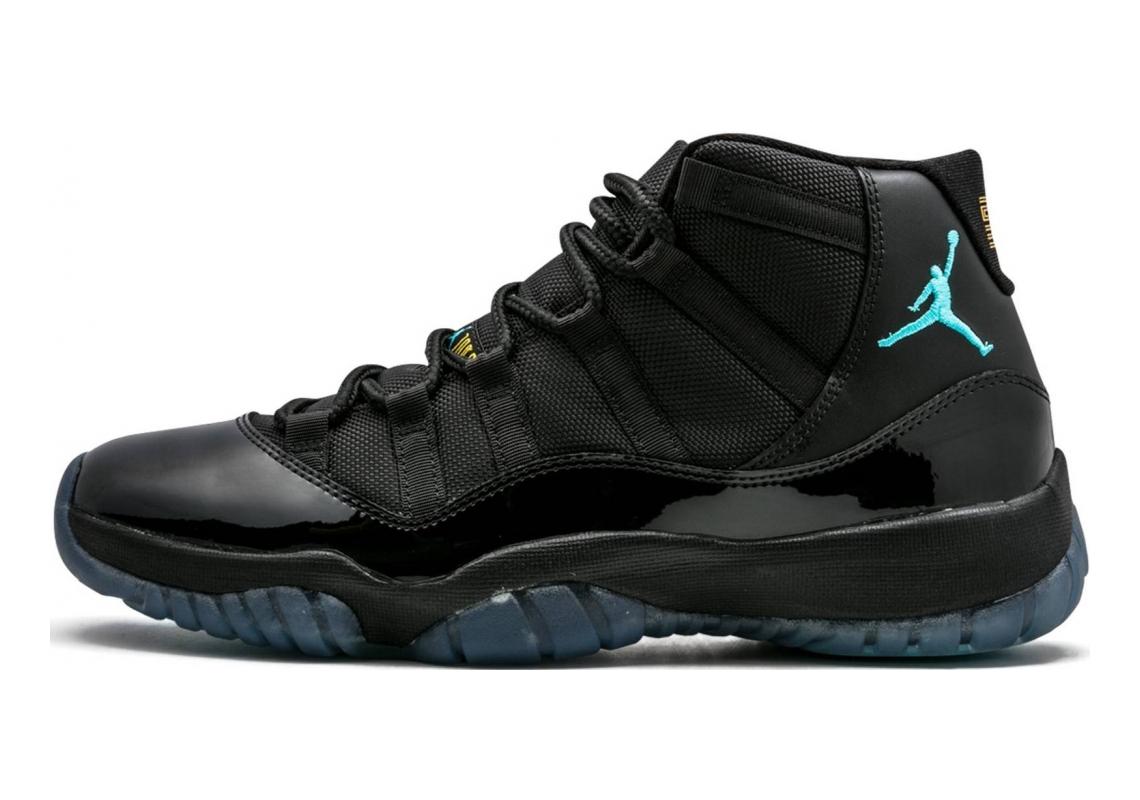 Air Jordan 11 Retro Black, Gamma Blue-varsity Maize