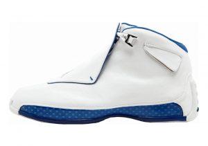Air Jordan 18 Retro White, Metallic Silver