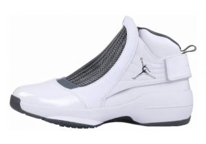 Air Jordan 19 White, Chrome-flint Grey