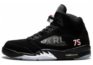 Air Jordan 5 Retro Black, Challenge Red-white