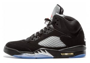 Air Jordan 5 Retro Black, University Blue-white