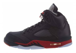 Air Jordan 5 Retro black, university red