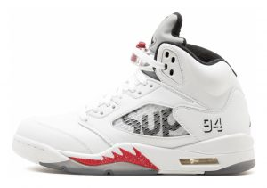 Air Jordan 5 Retro white, black-varsity red