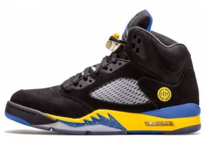 Air Jordan 5 Retro Black, Varsity Royal-varsity Maize