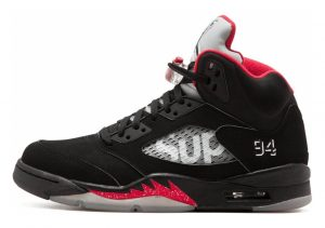 Air Jordan 5 Retro black, white-varsity red