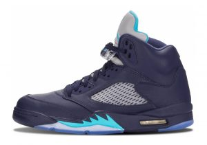 Air Jordan 5 Retro Midnight Navy, Trqs Blue-wht