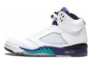 Air Jordan 5 Retro White, New Emerald-grapeice