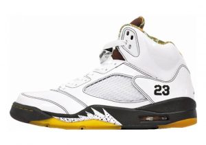 Air Jordan 5 Retro White, Dark Cinder-dark Army-del Sol