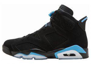 Air Jordan 6 Black, University Blue